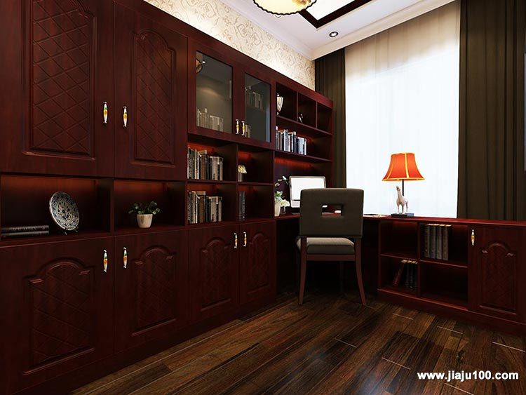 书桌书柜组合设计