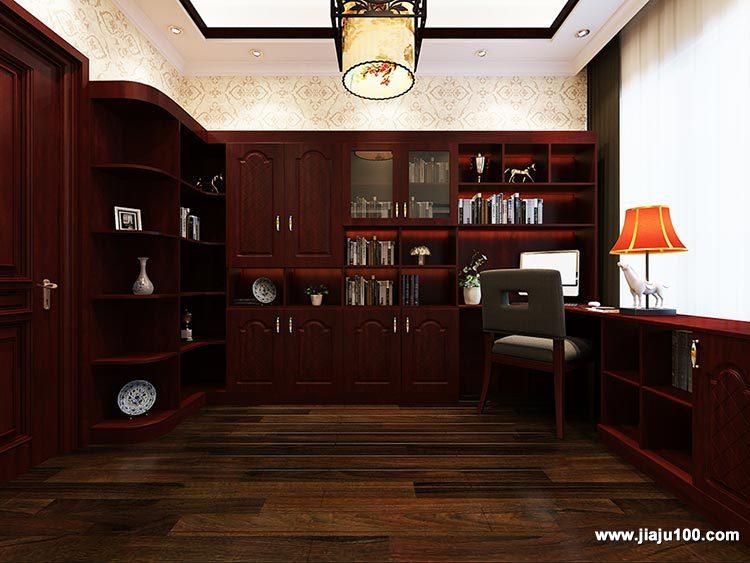 中式风书房设计效果图