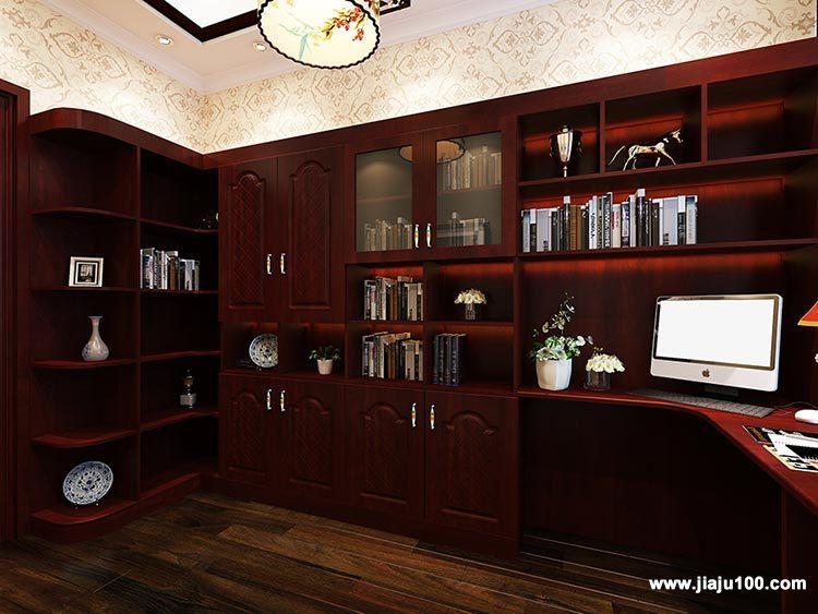 中式书房书柜定制