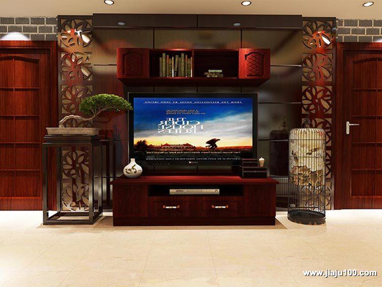 中式风格电视柜设计