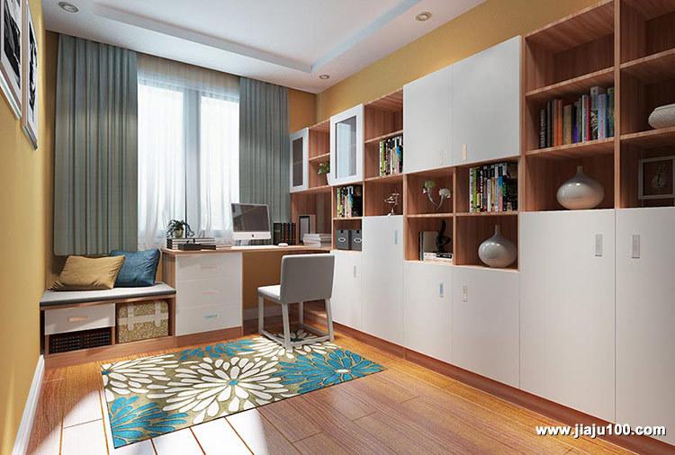 书房书桌书柜组合定制