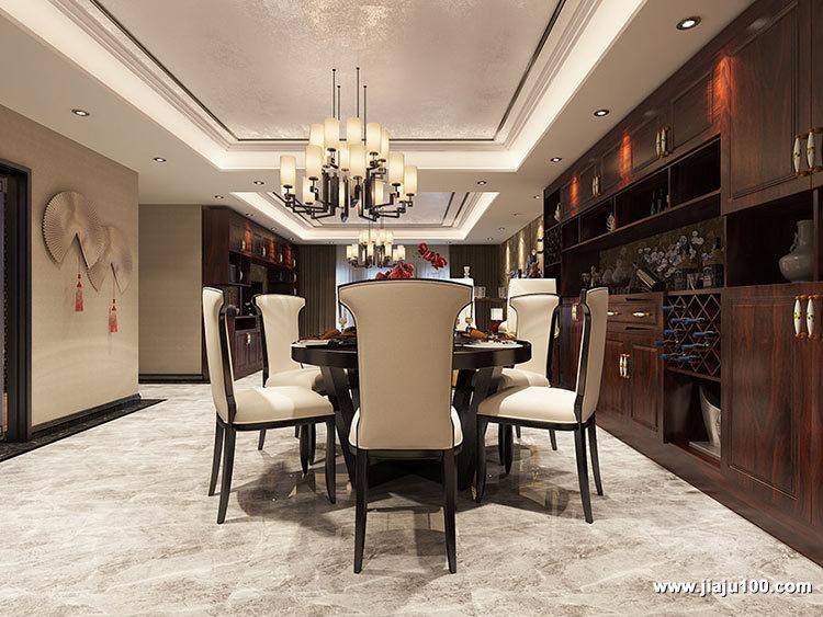 新中式餐厅家具定制