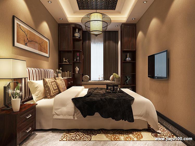 中式风格卧室飘窗设计