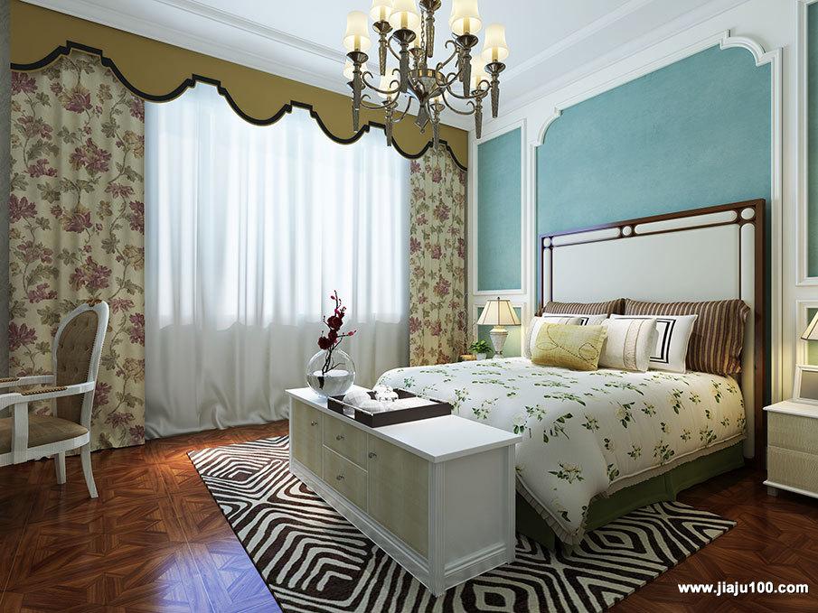 实木床尾装饰柜