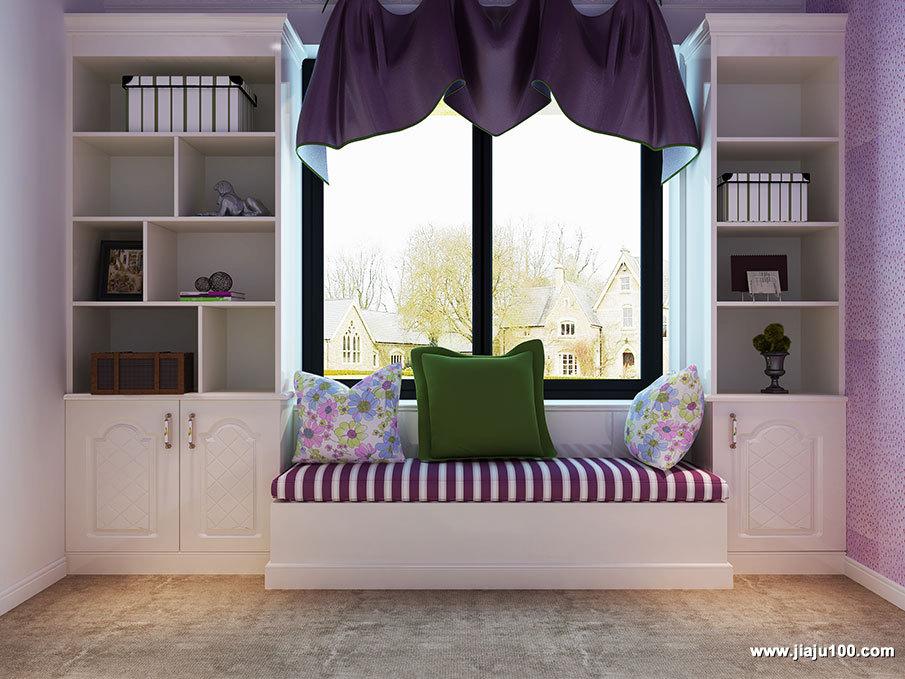 飘窗书柜组合设计