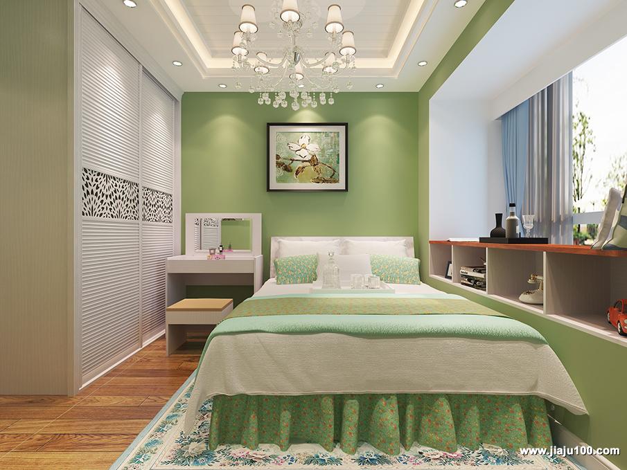 绿色系卧室家具设计
