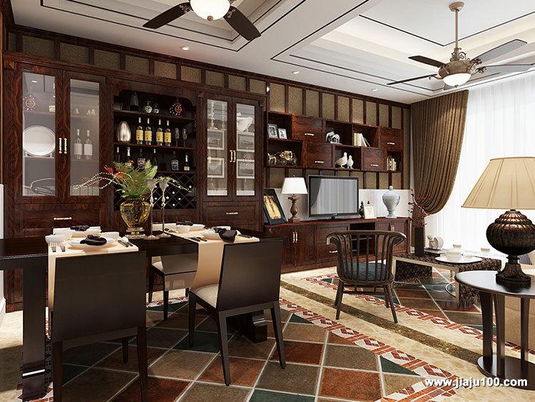 中式酒柜最新款样式设计