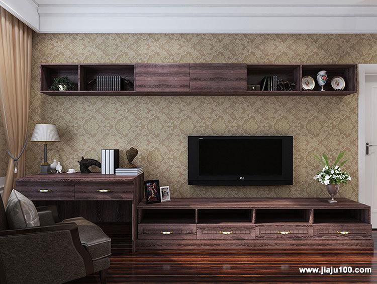 卧房电视柜吊柜设计