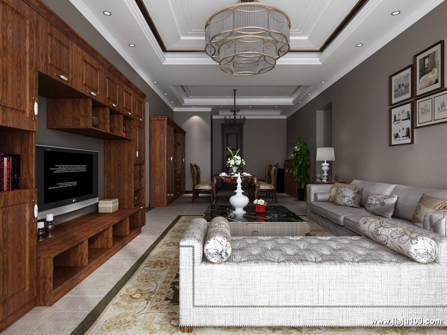 美式客厅沙发效果图