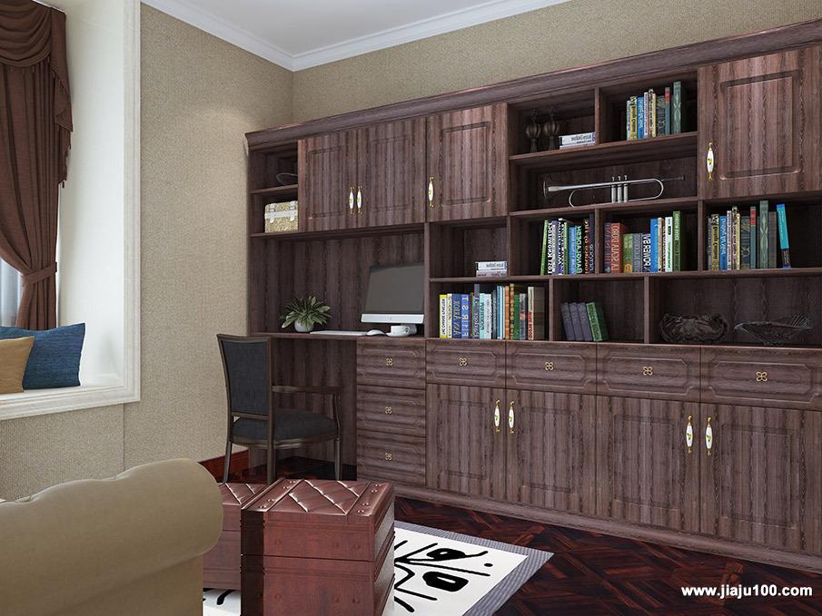 书柜书桌款式设计