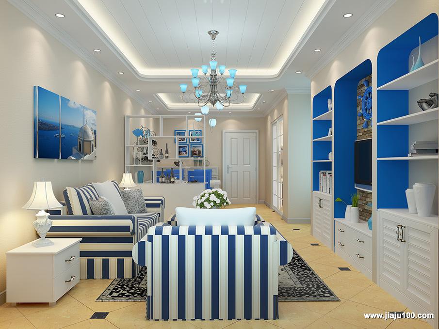 地中海风客厅家具设计