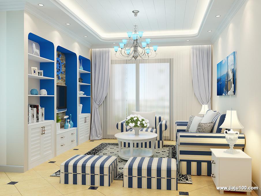 地中海布艺沙发