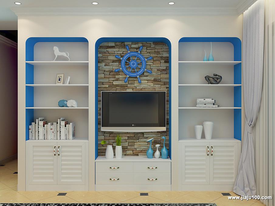 地中海电视柜设计