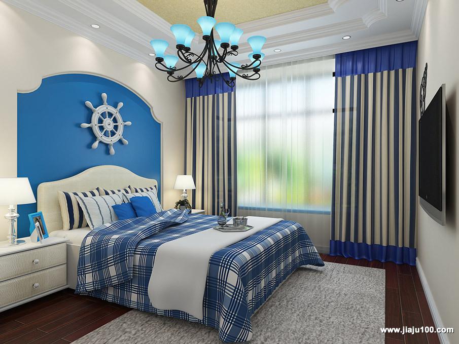 地中海卧房设计图