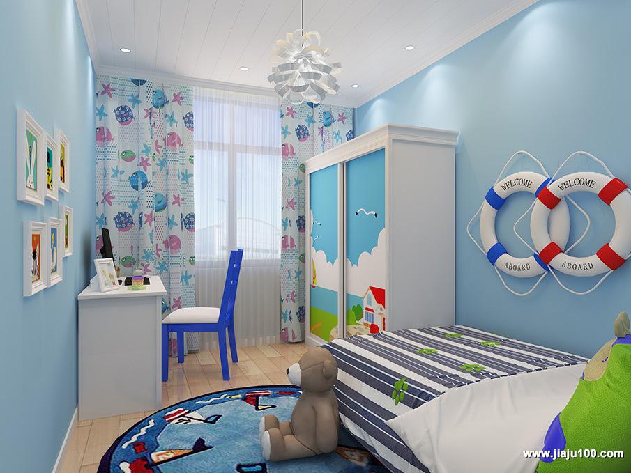 地中海儿童房家具定制