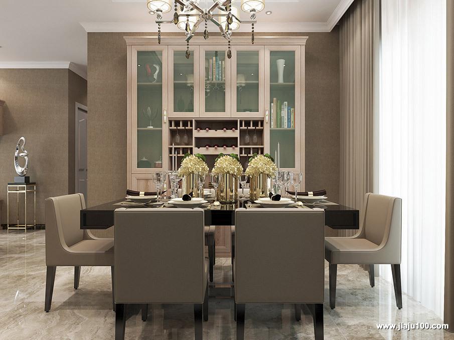 餐桌椅酒柜组合设计