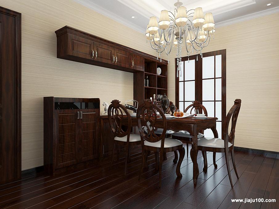实木餐桌椅酒柜定制