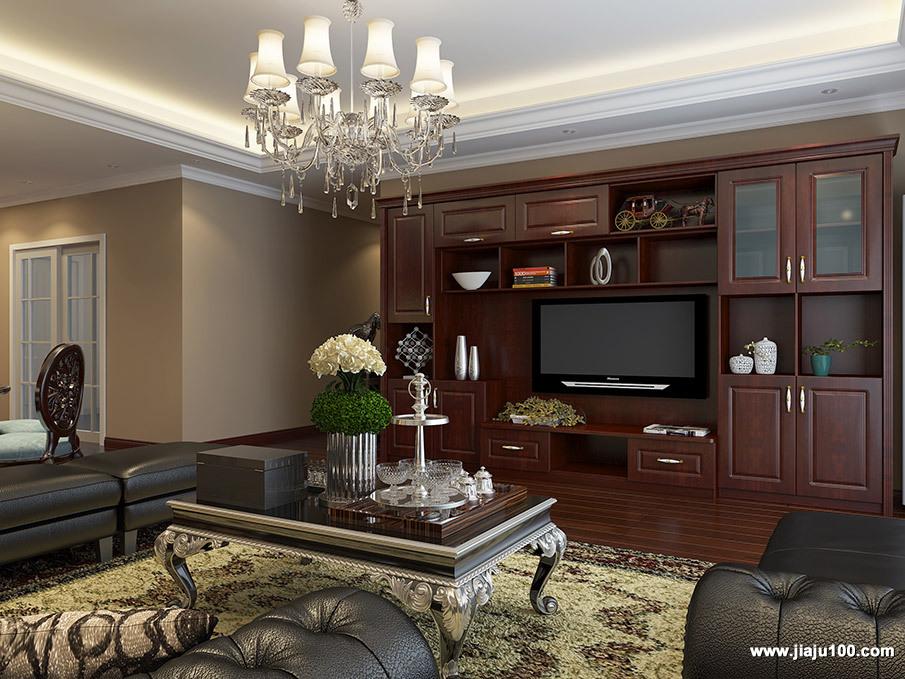 美式客厅高贵展示