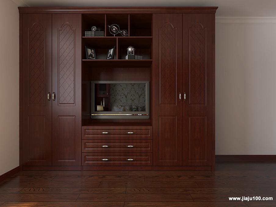 多功能实木衣柜
