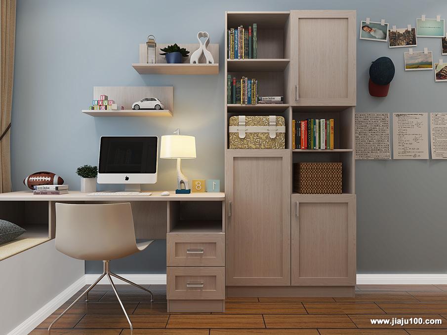书桌柜一体式柜定制