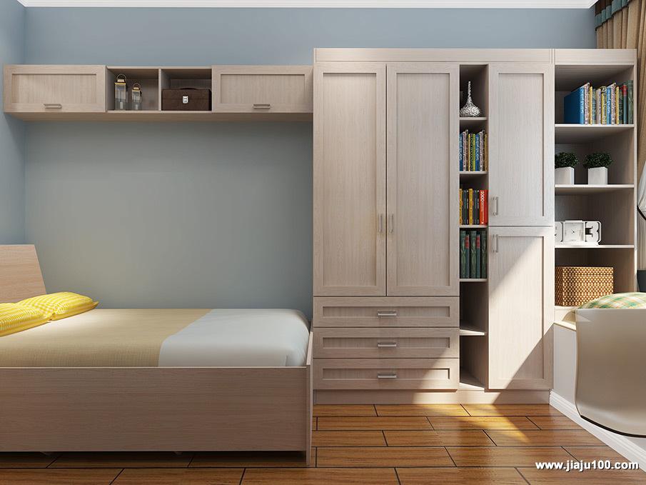 衣柜书柜组合设计