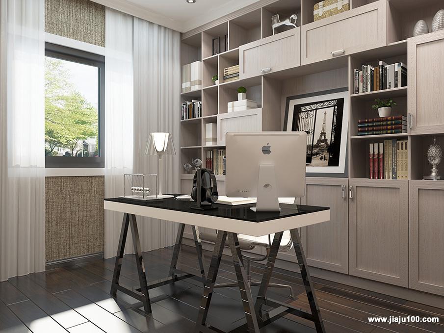 书房整体家具定制图