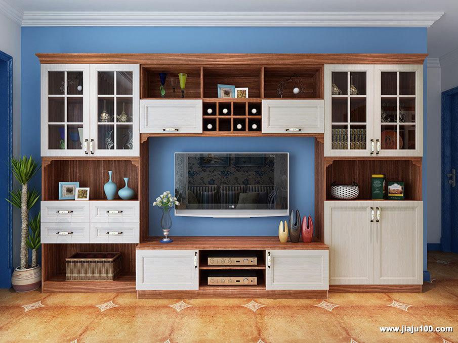 大面积回字型电视柜设计
