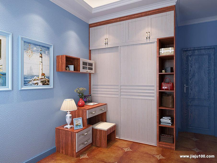 红木纹柜身家具定制