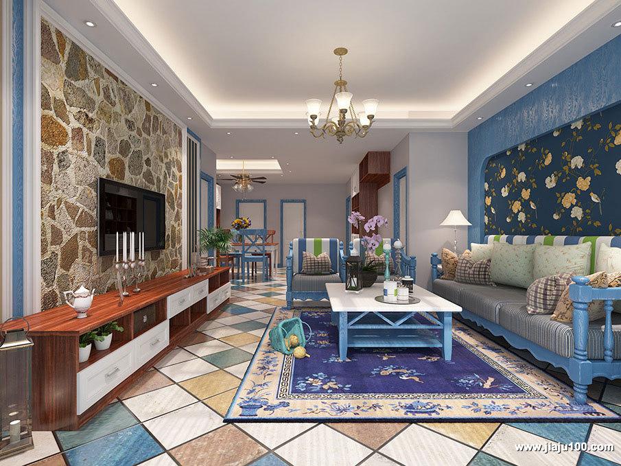 特色地中海风格客厅设计图