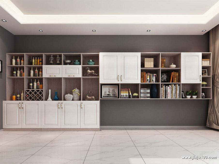 整墙储物柜酒柜设计