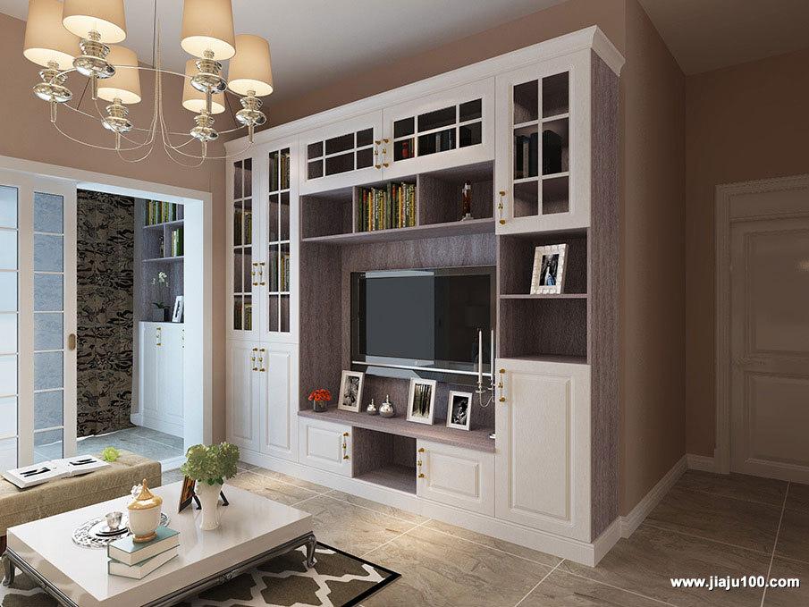 大面积回型电视柜组合设计