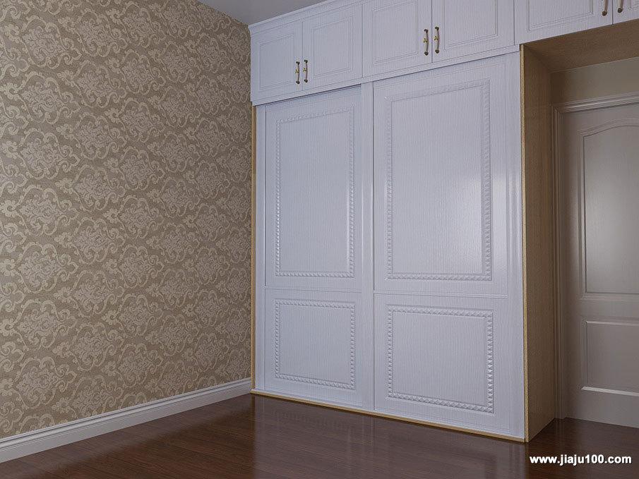 白色简欧风衣柜设计