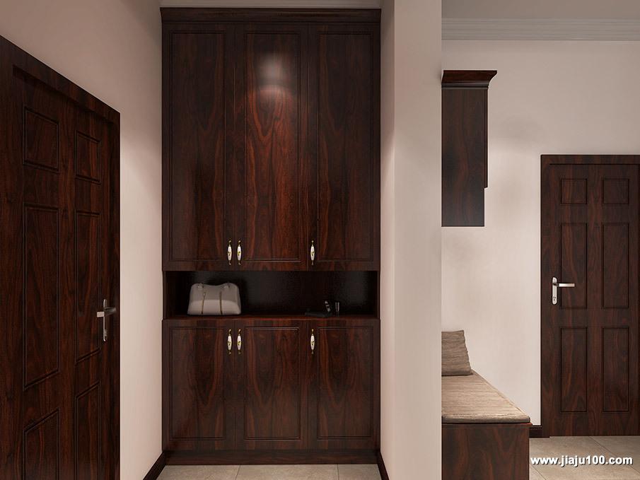 新中式风玄关柜设计