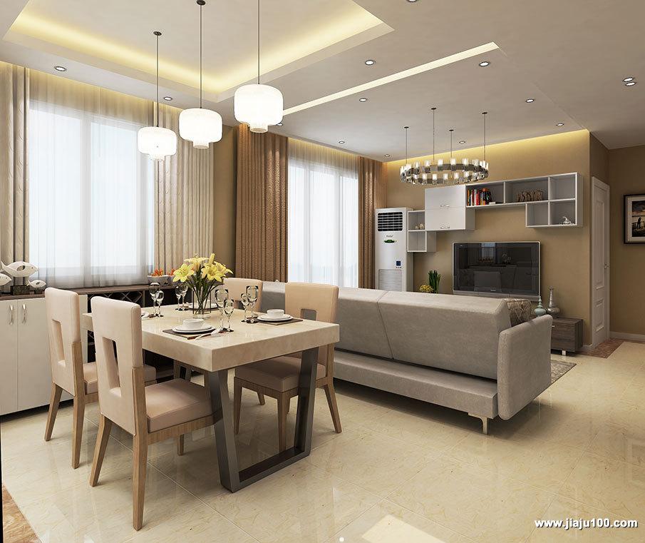 现代时尚客餐厅家具布置