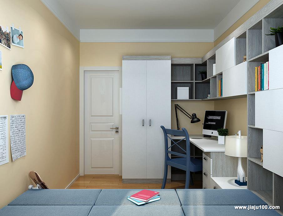 衣柜书桌一体式设计