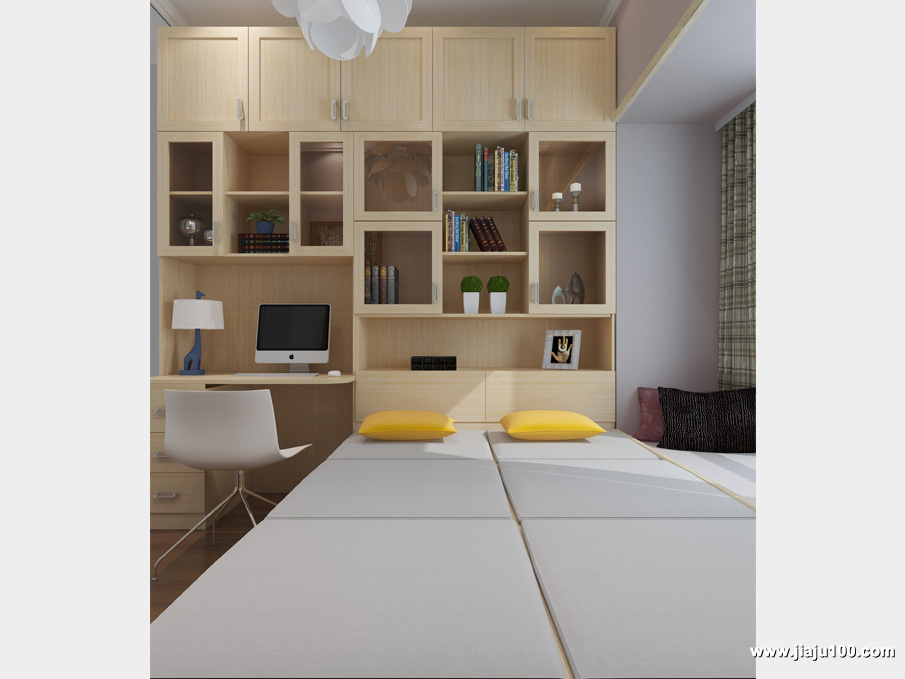 榻榻米床书柜家具定制