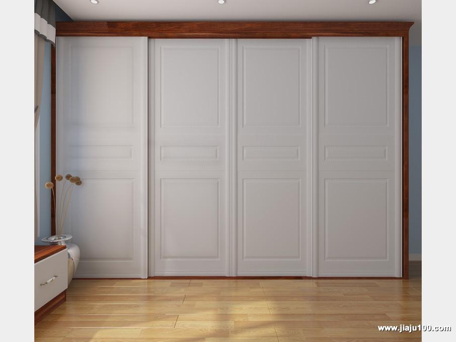 四柜门大衣柜设计