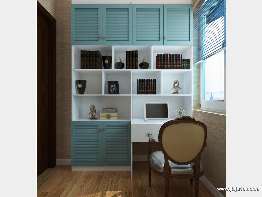 地中海开方式书柜设计