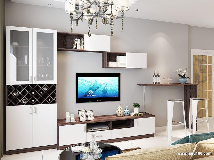 吧台电视柜组合设计