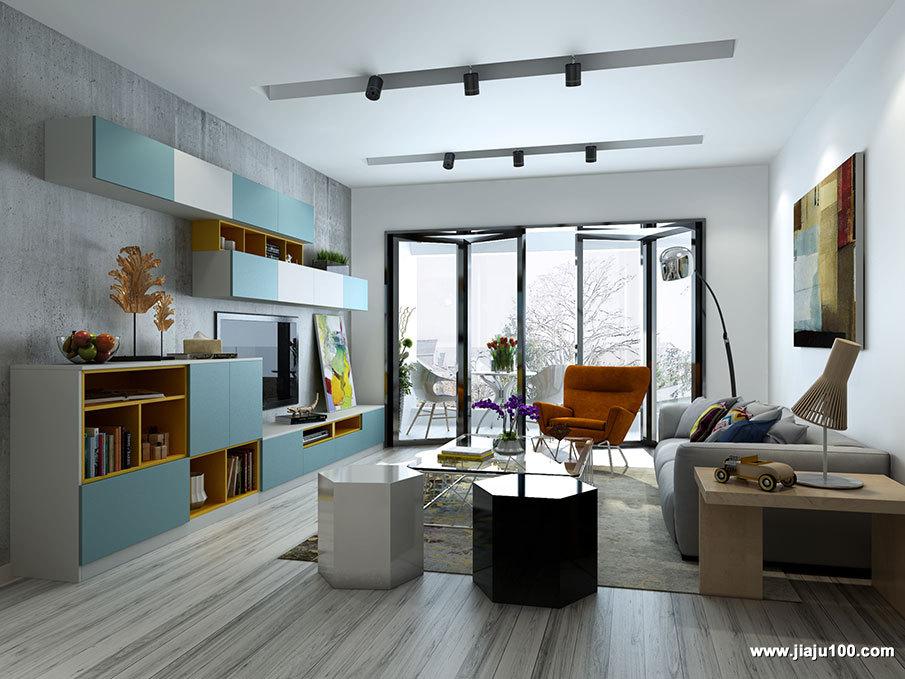 现代简约客厅家装效果图