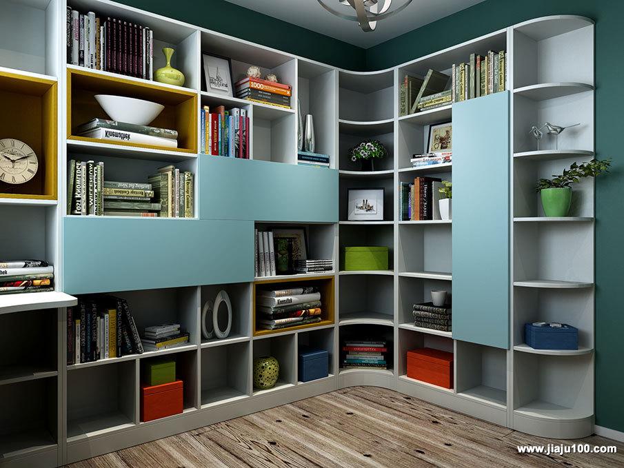 多柜式书柜设计图