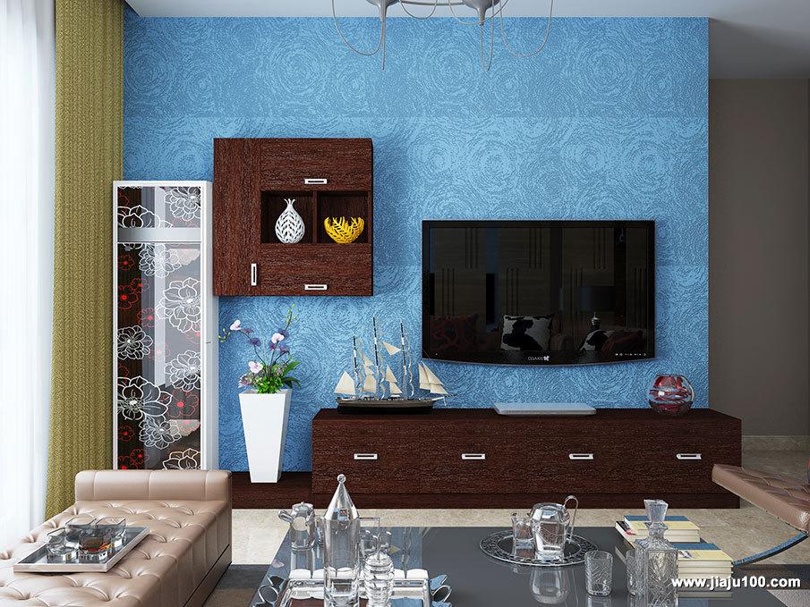 红木纹电视柜设计图