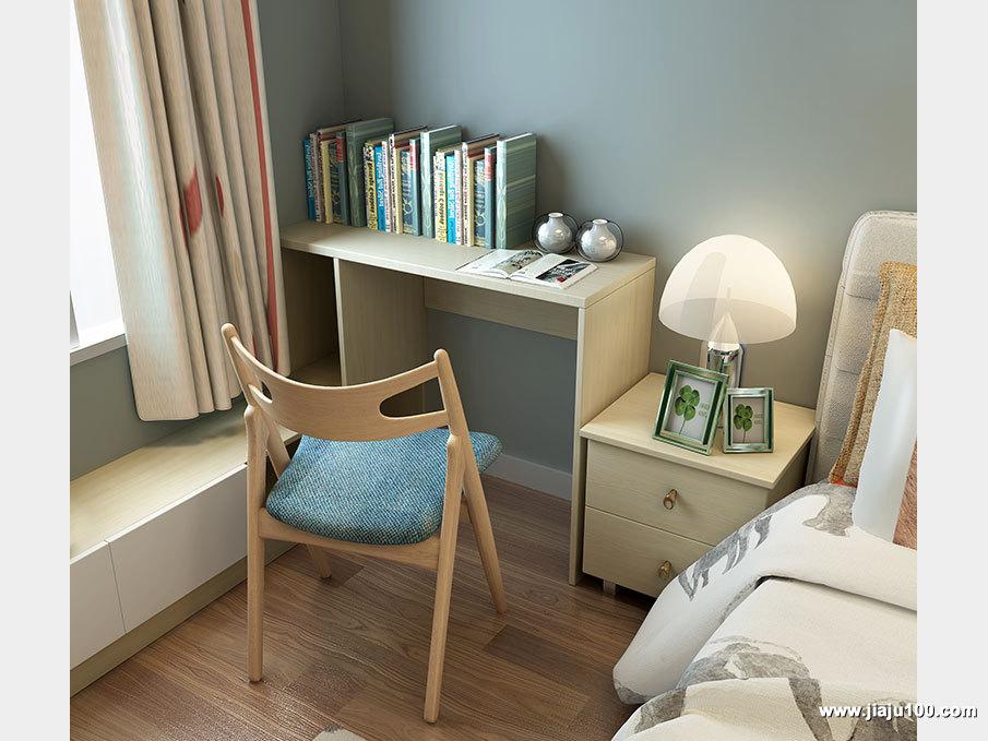 简易书桌床头柜设计