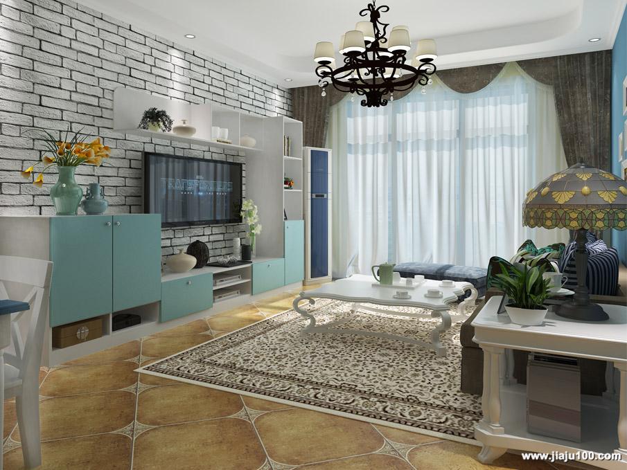 地中海风格客厅家具设计