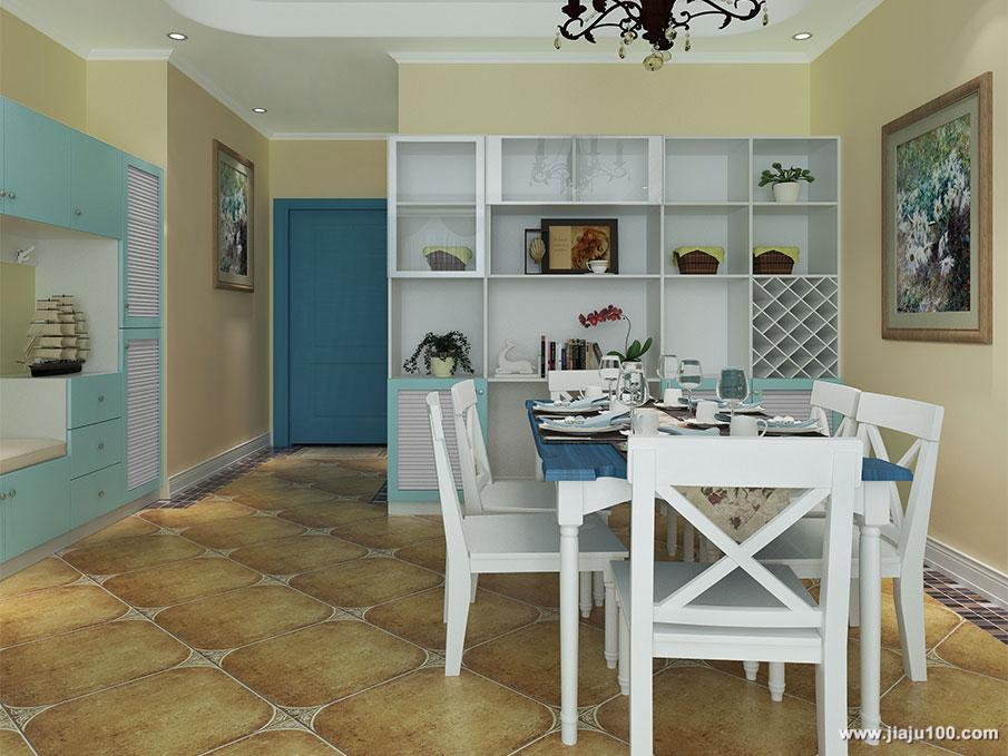 地中海风格餐厅家具设计