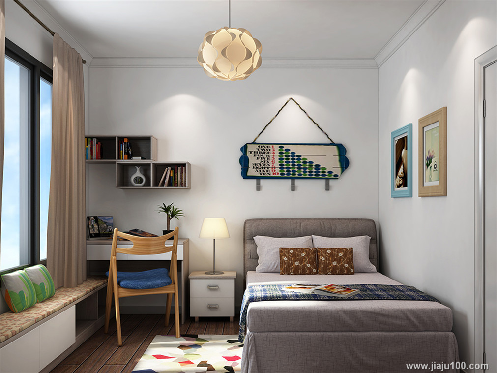 床+书桌+地柜