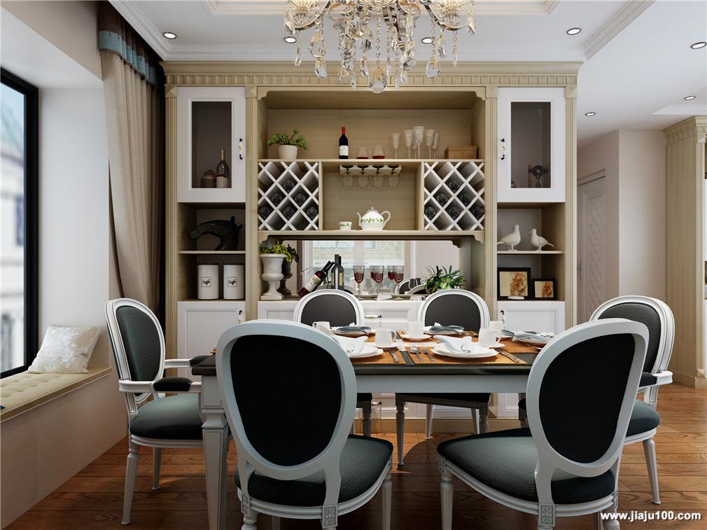 酒柜+餐桌椅