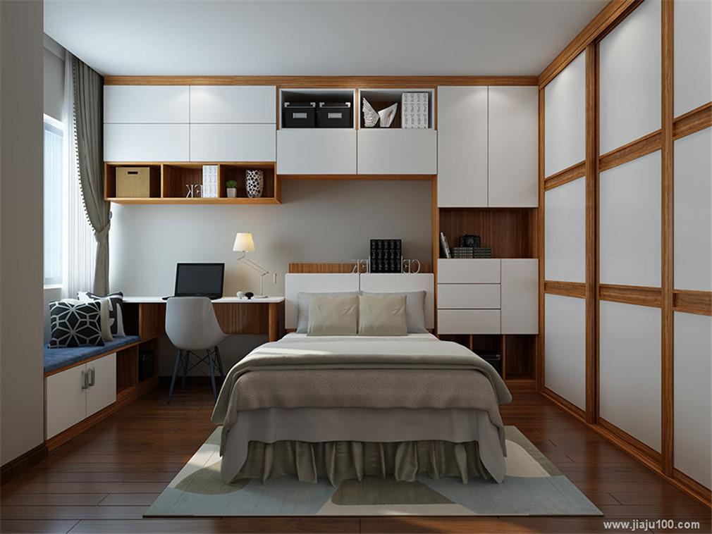 床+书桌柜