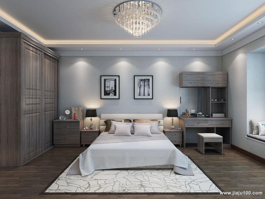 床+床头柜+梳妆台