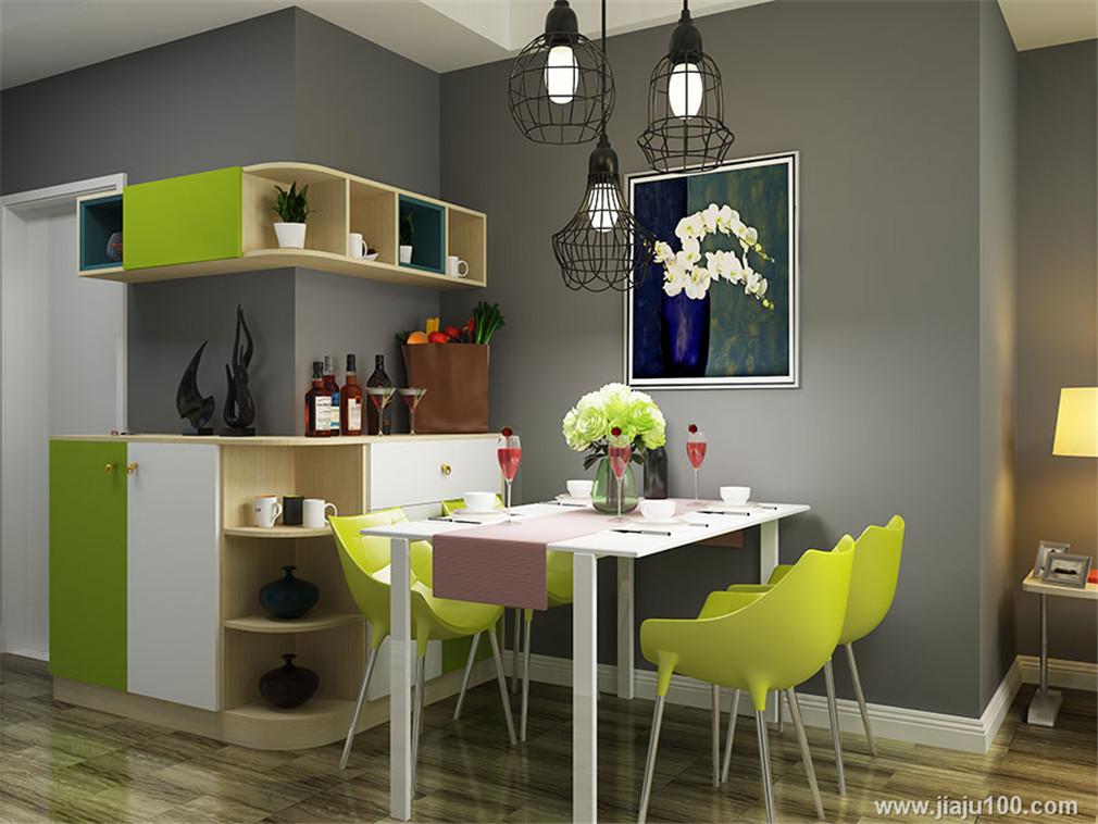 餐邊柜+餐桌椅